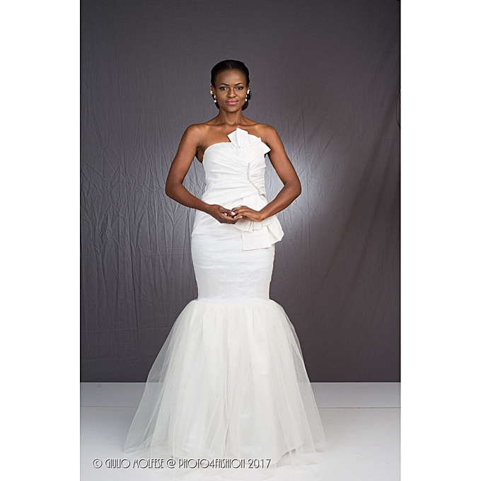 Buy Goodness Off white Taffeta evening gown @ Best Price Online ...