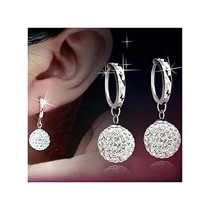 7ad3c91583c5c Refined Fashion New Women Crystal Gold Silver Rhinestone Sterling Elegant  Jewelry Hoop Earrings Piercing Plated Clip Nose Zircon Ear Ring Cuff Stud  ...