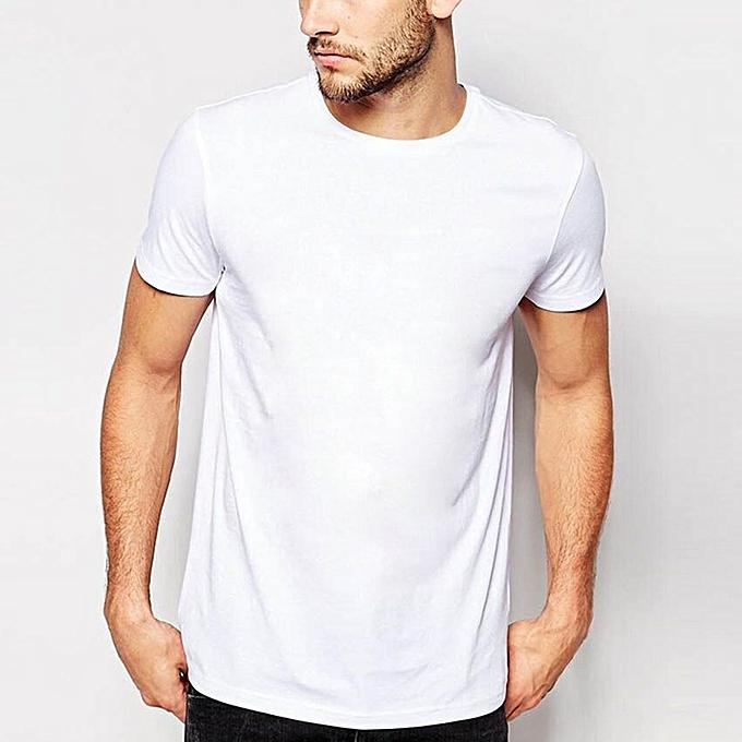 Plain white round neck t shirt