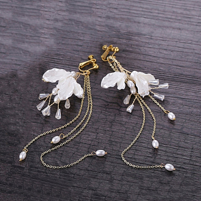 83c50b50f8 Bridal Wedding Hair Hoop Earrings Crown Decorated Hairpins Accessories