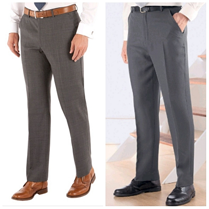 9cb1c8d7b5 2Pack Of Men's Formal Trousers Brown,Grey.
