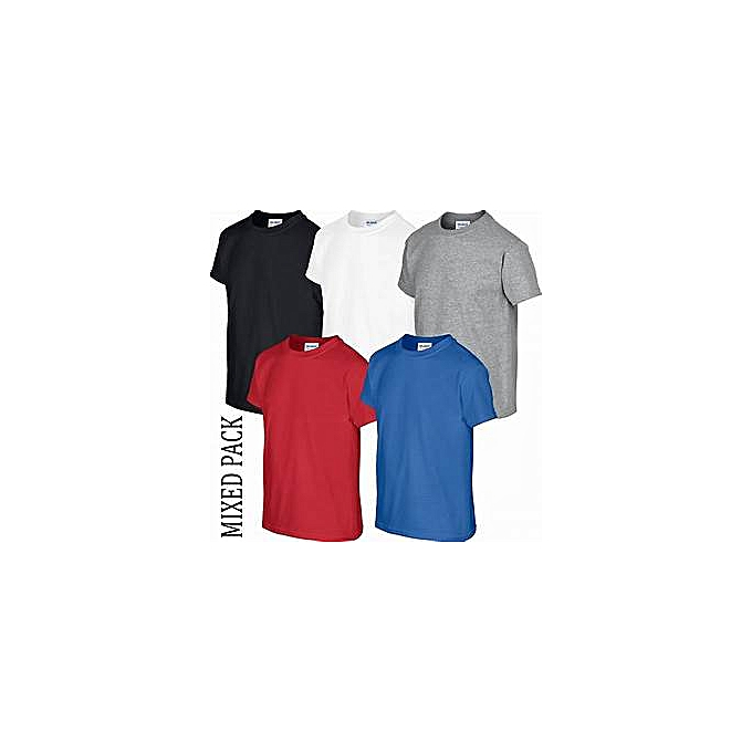 f0fdc36f499a Buy Generic Pack of 5 Men's Short-Sleeve Round Neck T-Shirts - Royal ...