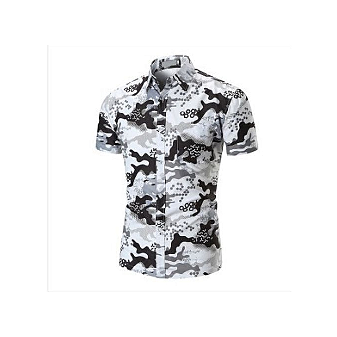 3c00b600 Buy Generic Stylish Summer New Men's Printed Short Sleeve Floral ...