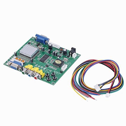 New RGB CGA EGA YUV to VGA HD Video Converter Board Moudle HD9800 GBS8200  Green