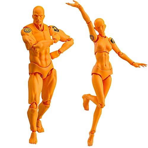 (Xiuxingzi) Drawing Figures For Artists Action Figure Model Human Mannequin  Man andWoman Set
