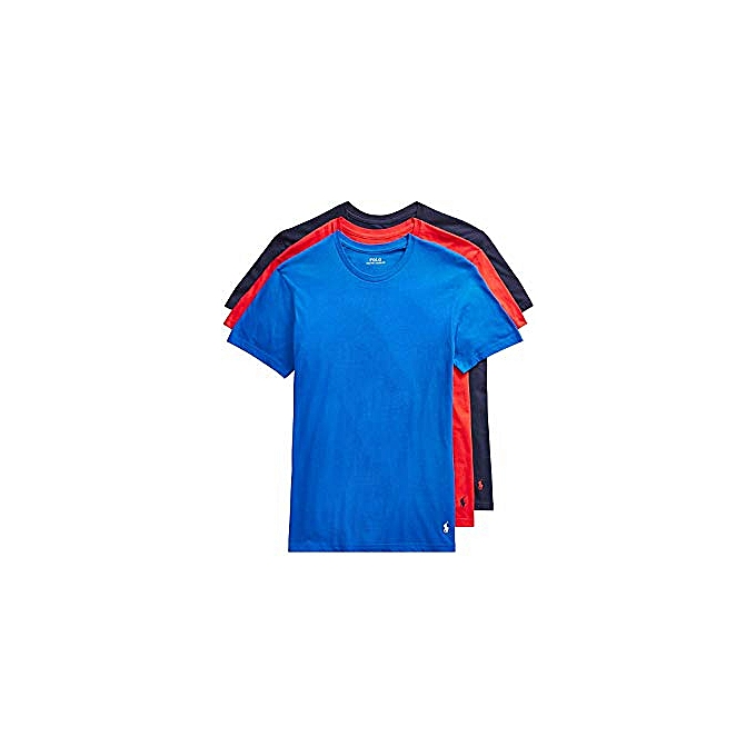 baad4dd82dcd1 Generic Pack of 3 Men's Short-Sleeve T-Shirts - Royal Blue, Red ...
