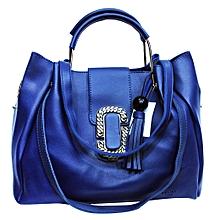 b2be908e3c Women s Metal Grip Structured Shoulder Handbag - Blue