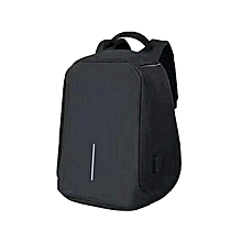 Anti-theft Waterproof Laptop Backpack with USB Charger - Black 8bb4d37626fb3