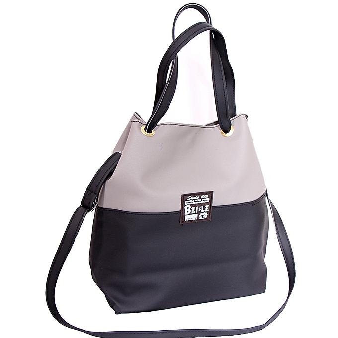c508a8369f39b Buy Generic Women's Faux Leather Designer Bag - Black,Grey online ...