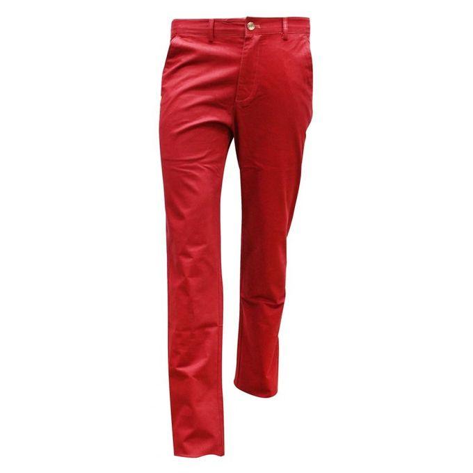 - San San Love Formal And Casual Menu0026#39;s Khaki Pants - Maroon | Buy Online | Jumia Uganda