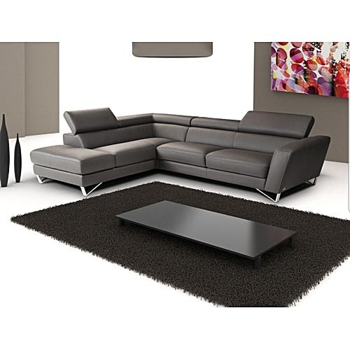 White Label 5 seater Leather L sofa - Black | Jumia Uganda