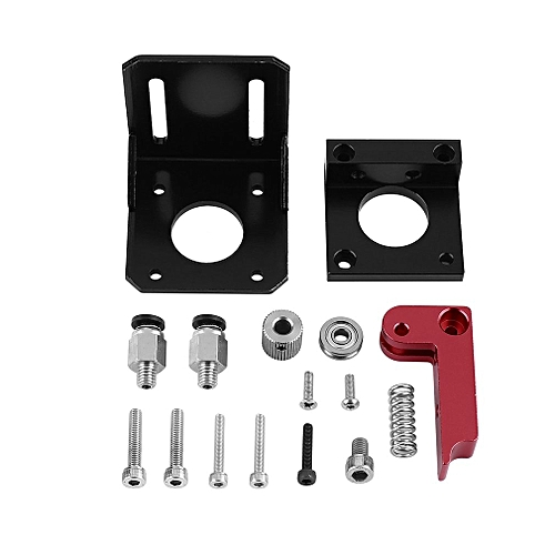 Advanced Version 3D Printer Accessories MK8 Aluminum Alloy Bowden Extruder  black and rose red