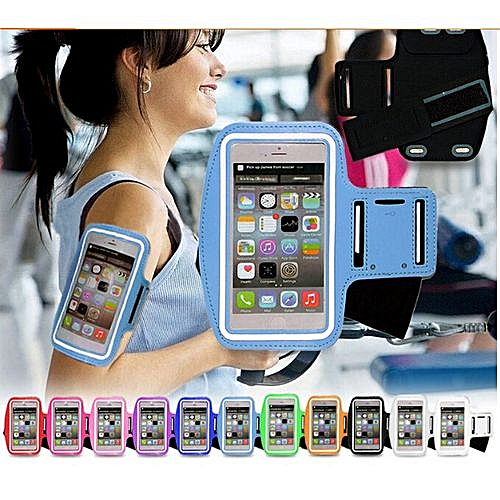 buy popular 5a73f 9fe25 Sports Waterproof Running Arm Band Case For Samsung Galaxy Widescreen Note1  S3 S4 S5 S5 Mini S6 For Htc Belt (Rose Red)