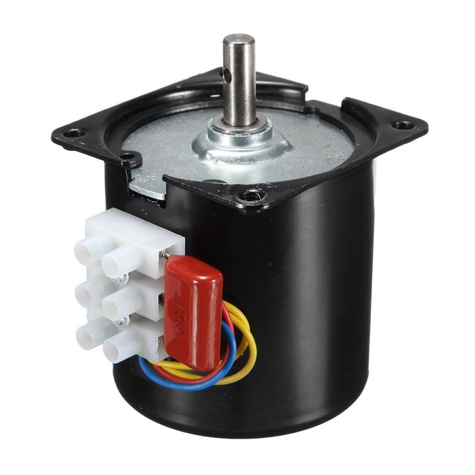 AC110V 30rpm Slow Speed Reversible Synchronous Motor Magnetic Torque  D-shape 14W