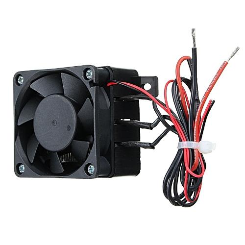100W 12V DC PTC Fan Heater Constant Temperature Incubator Hot Space  Thermostat Black