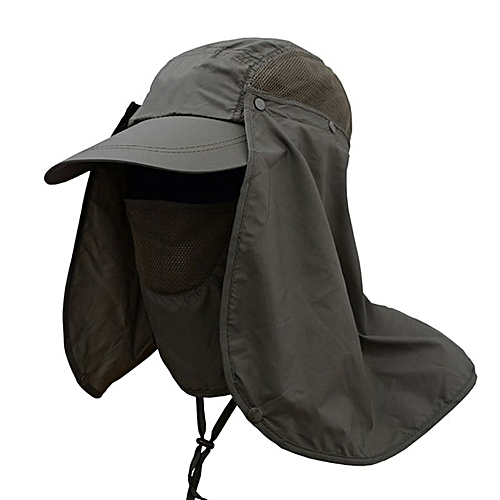 975a5914d Hiking Fishing Hat Outdoor Sport Sun Protection Neck Face Flap Cap Wide  Brim army green