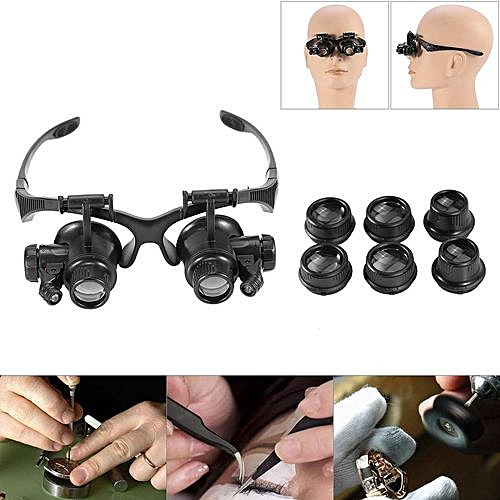 9b2f9c62ce2a Buy Generic New Head Wearing Magnifying Lens Double Eye Jewelry Watch Repair  Magnifier Loupe Glasses online | Jumia Uganda