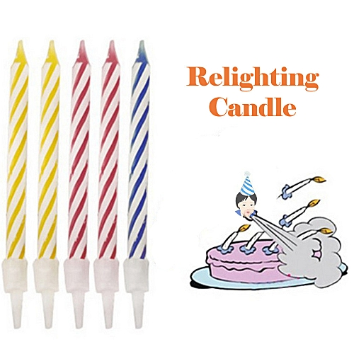 Buy Generic Magic Trick Relighting Birthday Candle 10 Piece Naughty Party Joke Gift Kids Toy Online