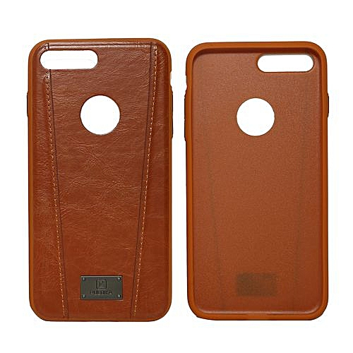 new concept b808b cd0a8 Puloka iPhone 7 Plus Leather Back Cover Case - Brown