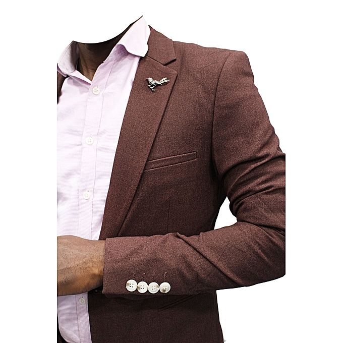 Blazers Jumia: New Designers Men Slim-Fit Blazer - Brown