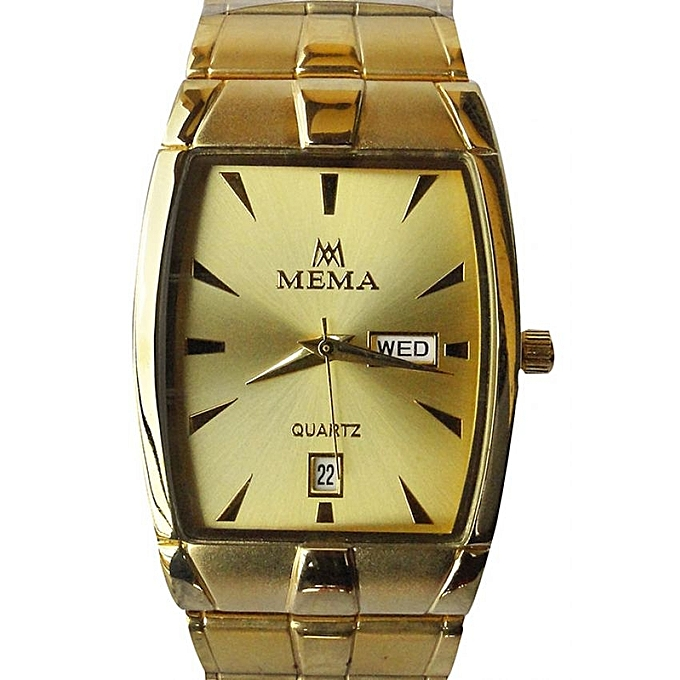 Mema Quartz Designer Watch - Gold