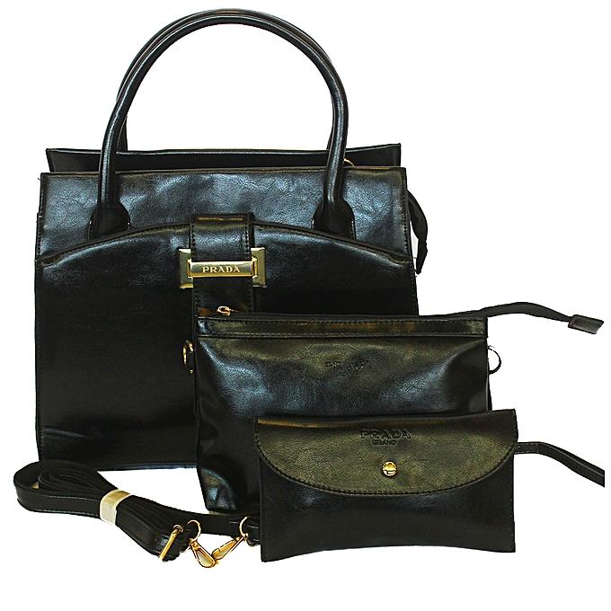 50446f4d Prada Ladies 3 in 1 Hand Bag - Black