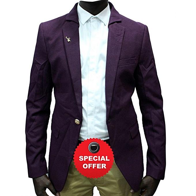 Blazers Jumia: Generic Long Sleeve Blazer - Purple