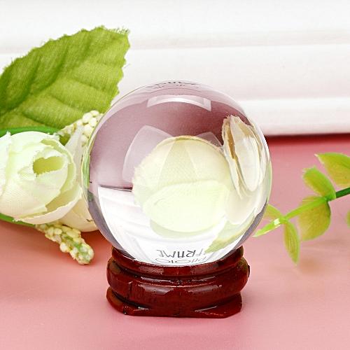 HOT! 40mm Natural Quartz Magic Crystal Ball Healing Ball Sphere And Stand