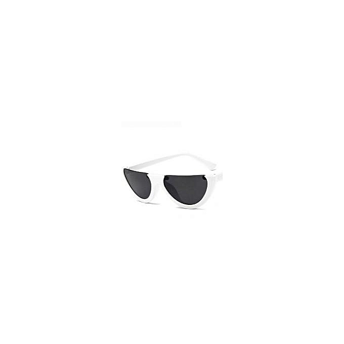 New Semi Rimless Narrow Frame Cat Eye Sunglasses - White | Jumia Uganda