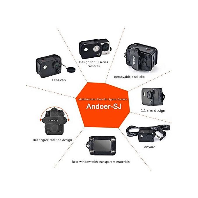 Camera/video Bags Andoer Carrying Camera Bag Multifunctional Clip-on Camera Case W/ Neck Lanyard Lens Cap For Sjcam Sj4000 Sj5000 Action Cameras