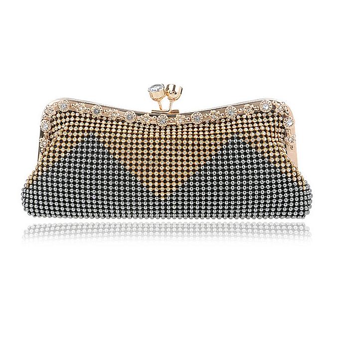 93413f28c2 Women Clutch Bags Beaded Evening Shoulder Bags Pearl Diamonds Crossbody Bag  (Grey)