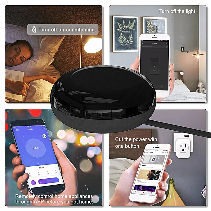 UFO-R1 IR Remote Control Smart Home WiFi Remote Control Suitable for Alexa  Google Assistant One for All Control for iOS Android Smart Phones