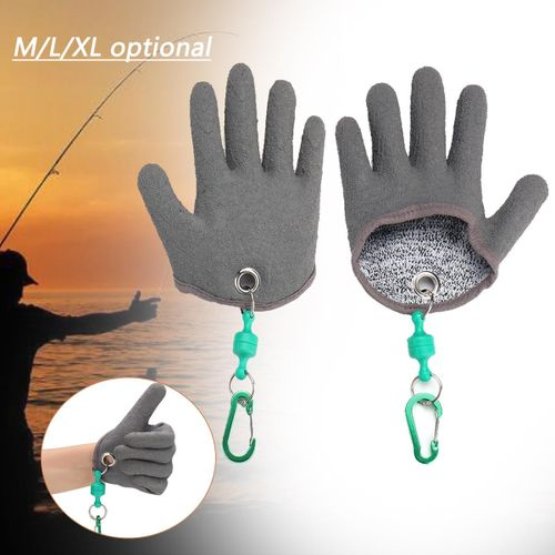 Fishing Free Hands Fishing Gloves Handing Fish Safety Magnet Release  Keychain PE