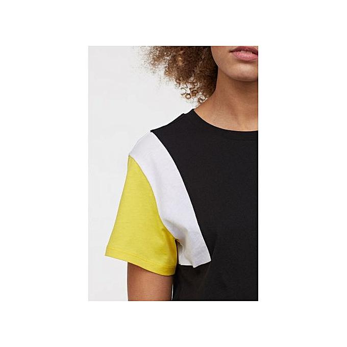 90727b8981399b White Label H M Short Sleeve T-shirt - Black