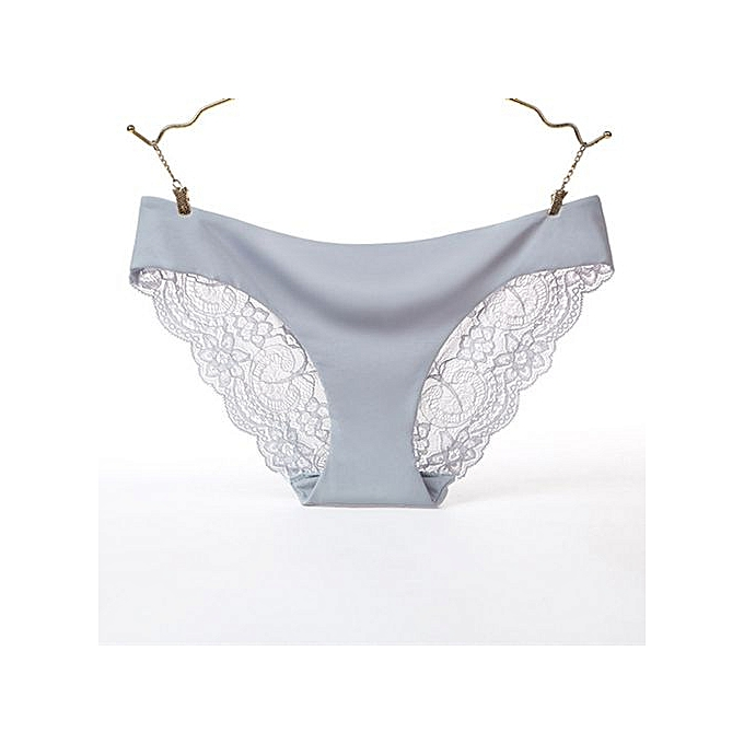 785cfed50b9 Lace sexy ladies panties Ice silk one-piece seamless underwear cotton  quilted low waist briefs
