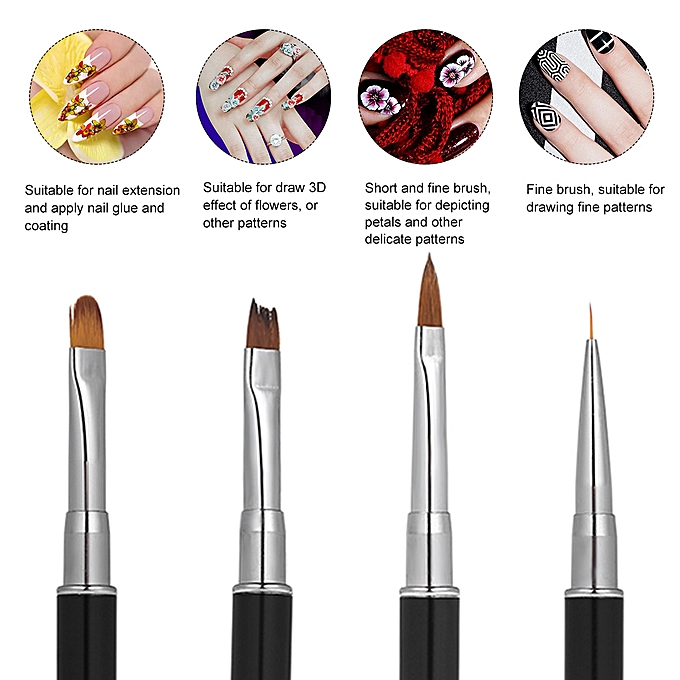 1pc Double Head Nail Brush Pen Color Blender Mixing Stick Nail Art  Extension Painting Tool Stainless Steel
