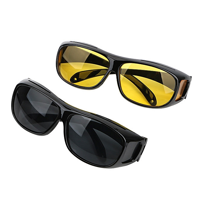 5769c47122dc 2 In 1 Car Driving Glasses Night Vision and Day Goggles Anti Glare Eye Wear  UV