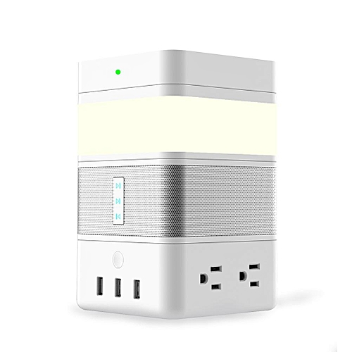 FreeCube Smart Modular DIY Kit with Bluetooth Speaker LED Gesture Sensor  Light Wireless Charger Power Strip with 4 AC/3 USB Port