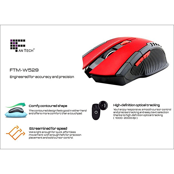 c544db7be2f ... 2.4Ghz Mini portable Wireless Optical Gaming Mouse For PC Laptop Red