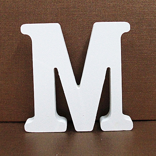 Hiamok Wood Wooden Letters White Alphabet Wedding Birthday Party Home Decorations M