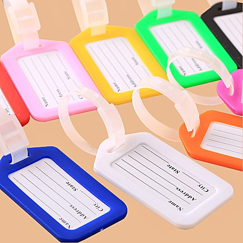 Travel Luggage Bag Tag Name Address ID Label Plastic Suitcase Baggage Tags