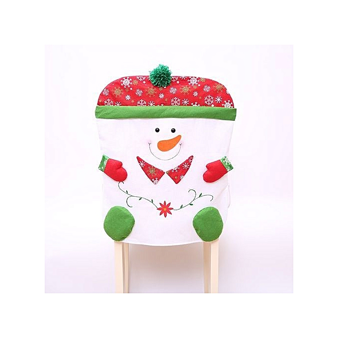 Stylish Cartoon Snowman Chair Cover Christmas Table Ornaments