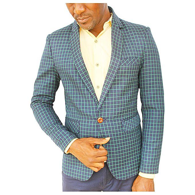 Blazers Jumia: Checkered SIngle Buttoned Men's Blazer
