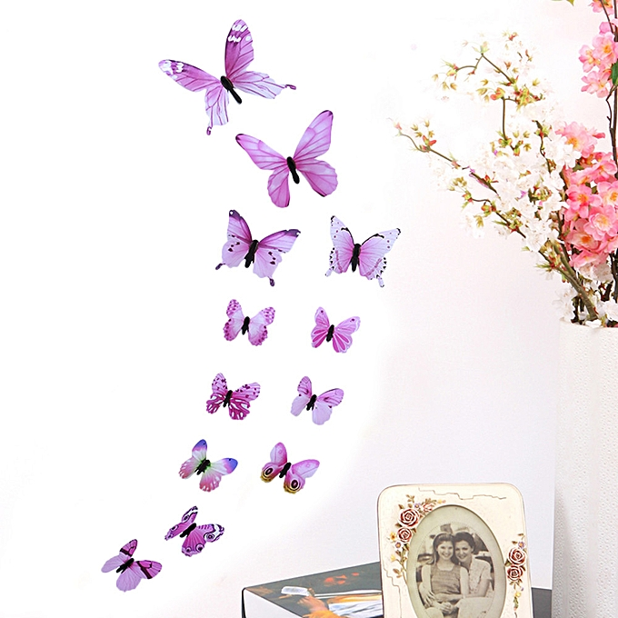 3D DIY Wall Sticker Stickers Butterfly Home Decor Room Decorations New PK