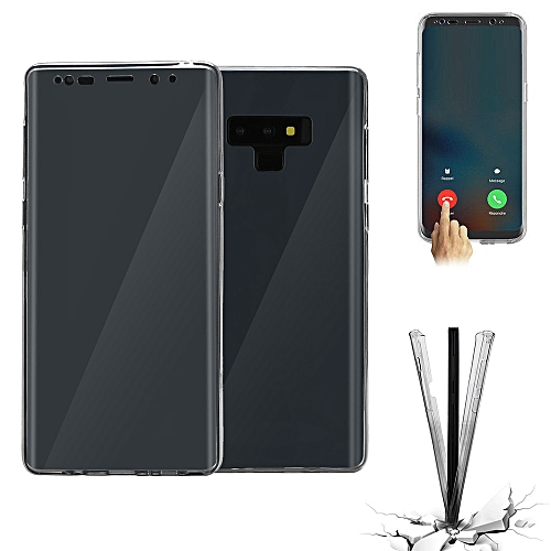 sale retailer ba13c f84a9 Hiamok Crystal Transparent 360 Hybrid Silicone Full Case Cover Skins For  Samsung Note 9