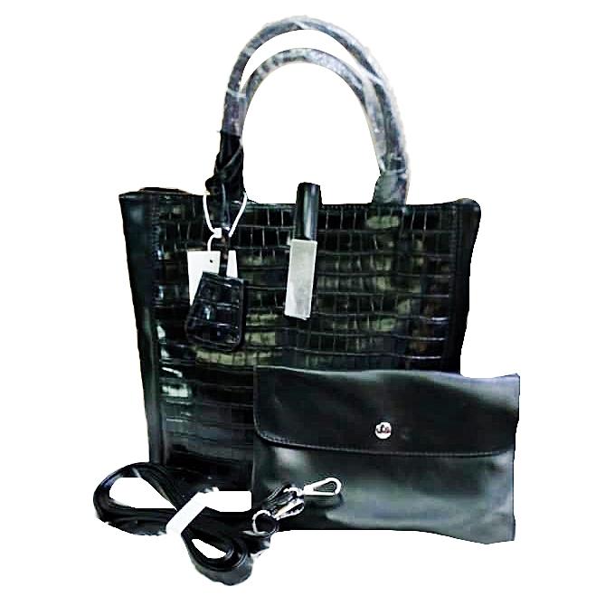 ec9b8dbf Women's 2 In 1 Faux Leather Designer Handbag - Black