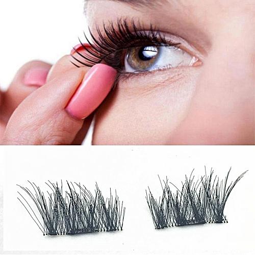 d1cbae5b499 Buy Generic 4pcs (1 Pair) Magnetic Eye Lashes 3D Reusable False Magnet  Eyelashes Extension online   Jumia Uganda