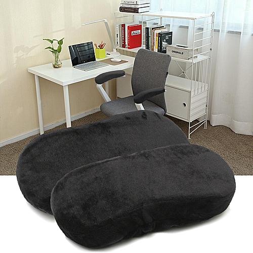 2 Pcs Memory Foam Armrest Cushion Chair Mats Pads Elbow Arm Rest Cover Black
