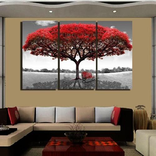Jumia Uganda & Large Red Tree Canvas Modern Home Wall Decor Art Painting - Multi-color