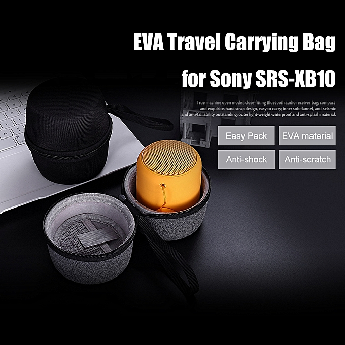 865747f25 EVA Travel Carrying Bag Protective Cover Hard Case Storage for Sony  SRS-XB10 Speaker with Zipper(Black)